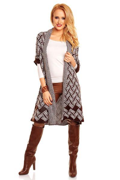 Moda Cardigan<br>A1130 wit-bruin