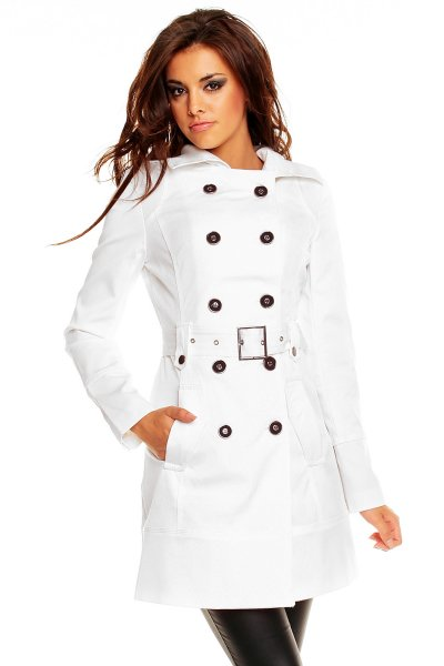 Coat Voyelles W-83 white