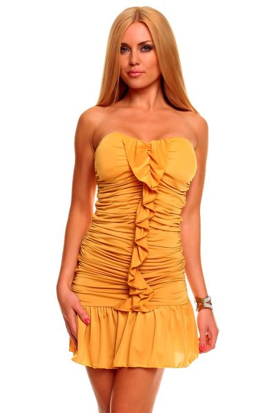 Kleid Nadia 076 senf
