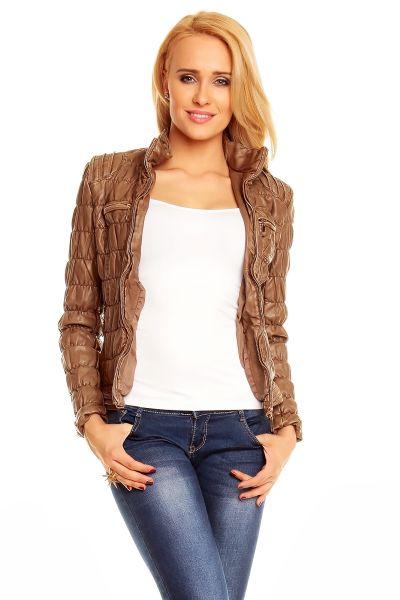 Ten brązowy<br>płaszcz Blu AW888