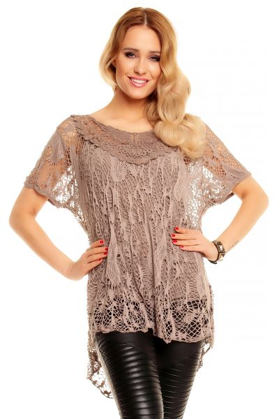 Tunic 2 pcs. Top<br> with brown Italia<br>5111