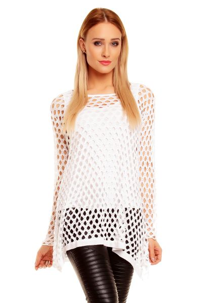 Tunic Amber Moda<br> 9195 white with<br>Shirt
