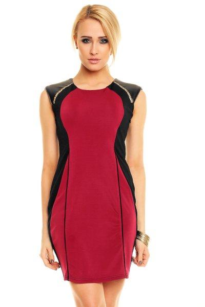 Kleid Evelin 508<br>schwarz-lila 3 Stück