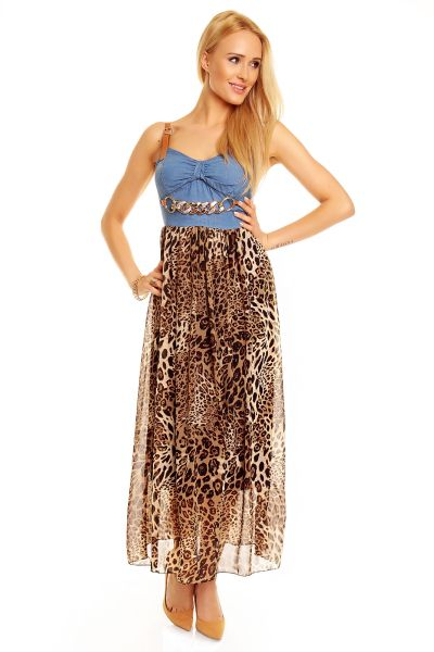 Moda dress 5848<br>Leo brown-blue