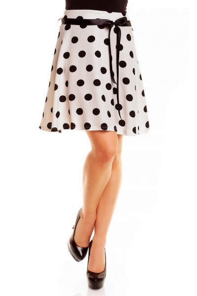 Moda Skirt 9547<br>White-Black