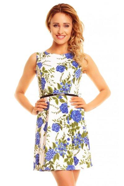 Dress Flower 4547<br>white-blue-green