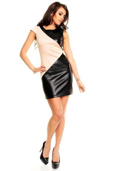 Dress Mayaadi<br> HS-279 világos<br>barna-fekete