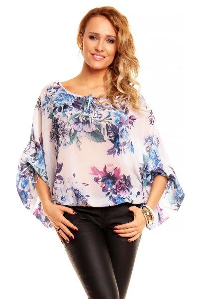 Moda Blouse 8282<br>creme-turquoise
