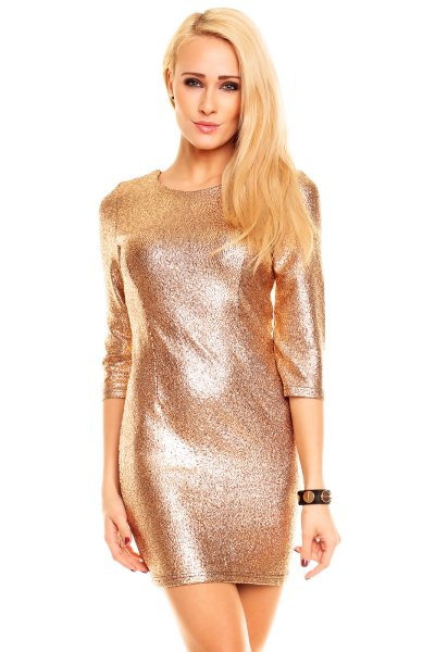 Kleid Ethina 21923<br>gold 3 stück