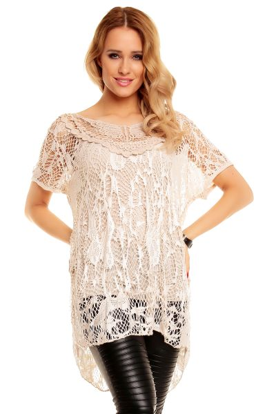 Tunic 2 pcs. Top<br> with beige Italia<br>5111