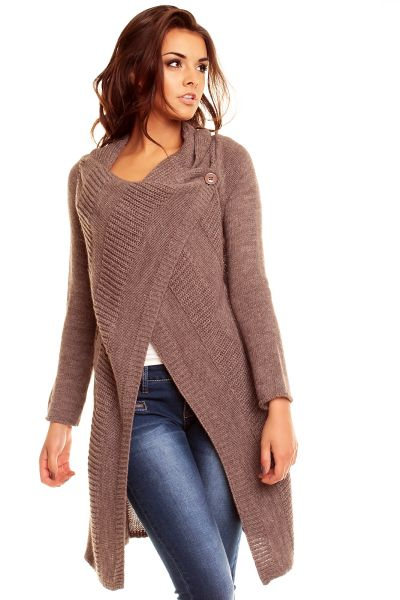 Poncho Cardigan<br>Lacomy 3100 brown