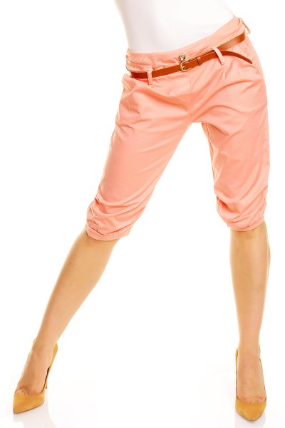 Capri pants with<br>belt pink 1582