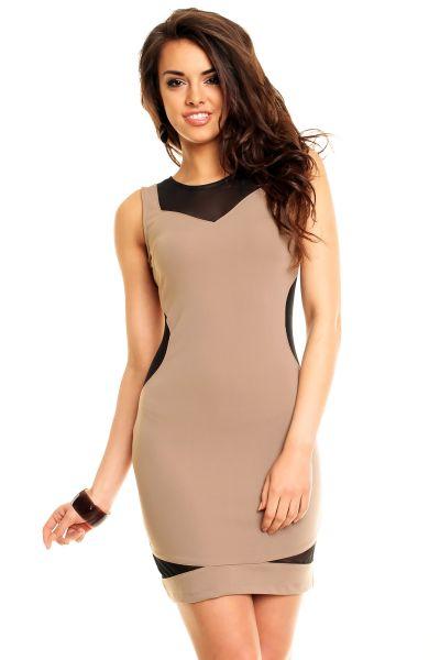 Kleid Kimi KL084<br>braun-schwarz