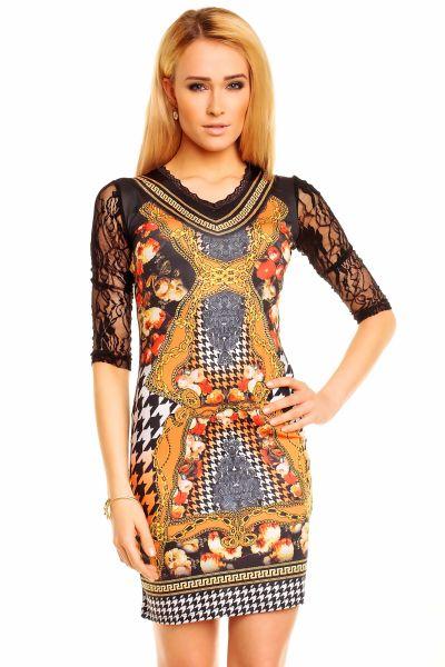 Sweet Miss Dress<br>C23888 black-orange