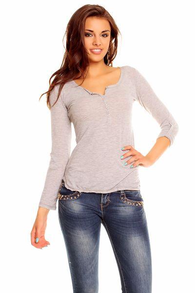 Shirt Vintage<br>Dressing 8820 gray