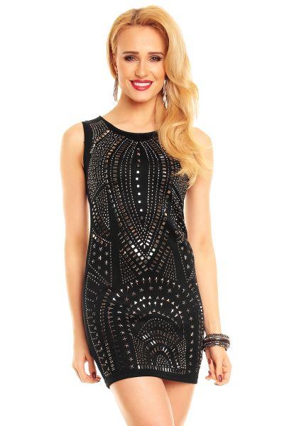 Kleid Ethina 8832<br>schwarz-silber