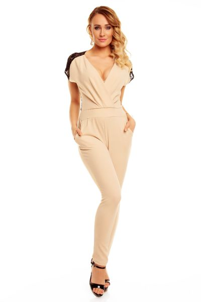 Overall E-Land in<br>1534 beige-black
