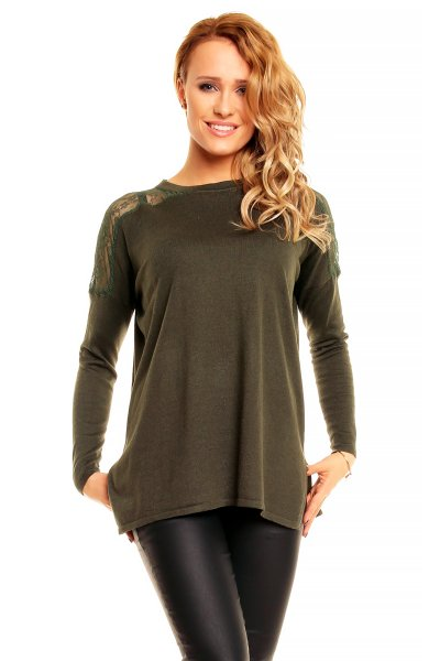 Pullover Sweewe<br>16388 olive