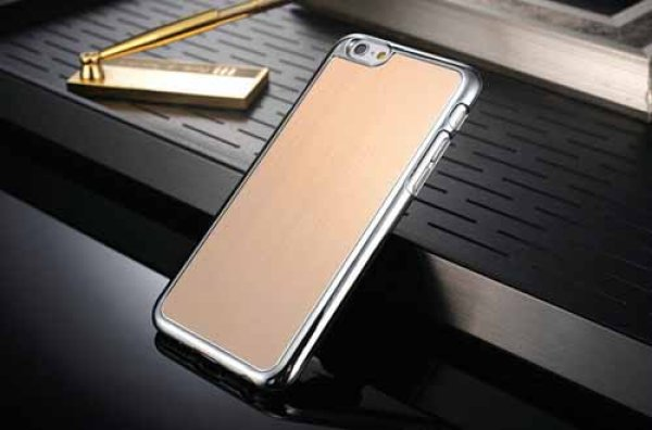 iPhone6 Plus 4,7 <br> Etui Metal Look<br>Apple Tasche 016