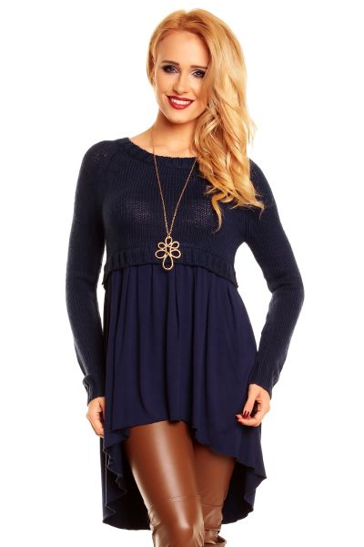 Sweater tunic dark<br>blue 47