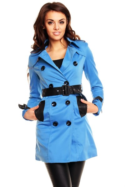 Płaszcz Oliwa L<br> Verte 5A059<br>niebiesko-czarny B