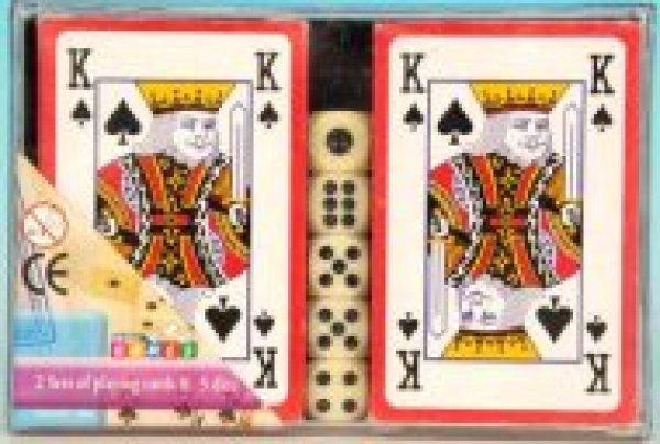 2 x 5 kocka<br>kártyáztak rovatban