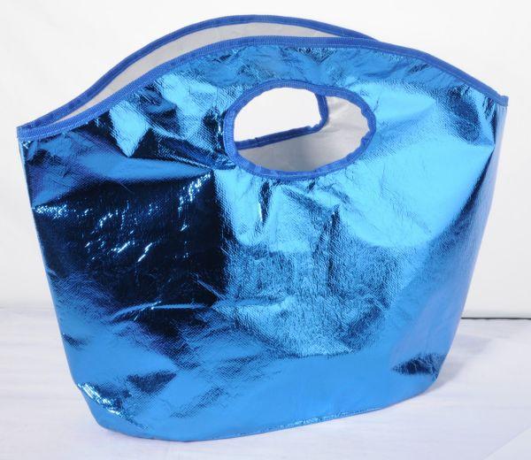 Einkaufstasche<br>blau metallic