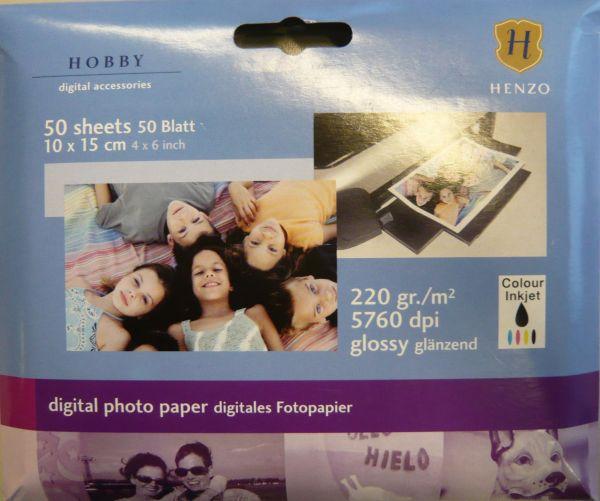 Fotopapier 10x15<br>cm, 50 Blatt