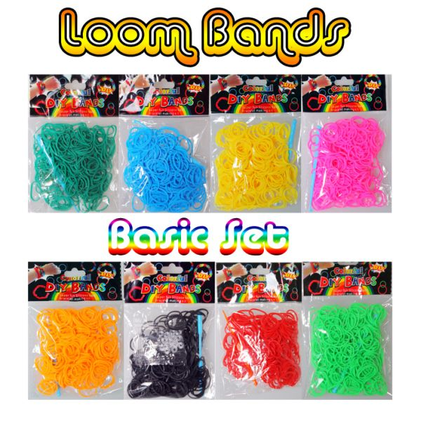 Colorful DIY LOOM<br>BANDS, 200 pcs.