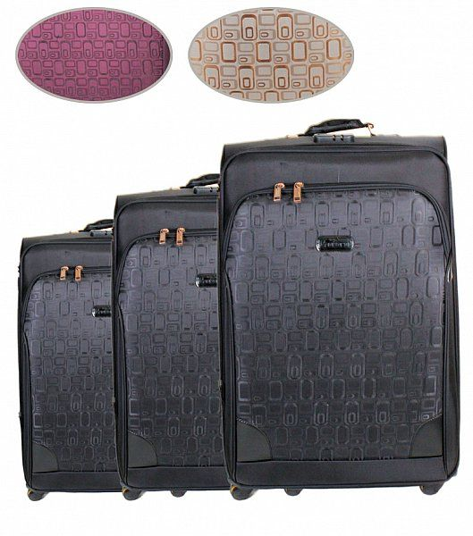 Reisekoffer Soft /<br>Trolly 3er Set
