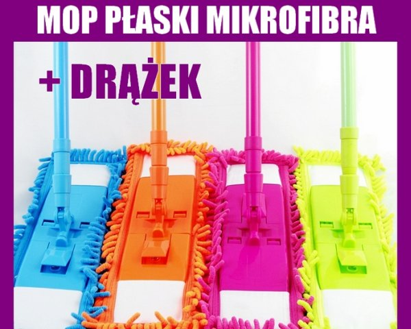 MOP STICK FLAT +<br>Telescopic