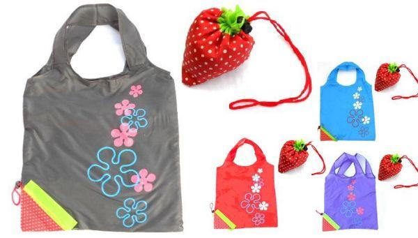 Strawberry<br>shopping bag 37x37cm