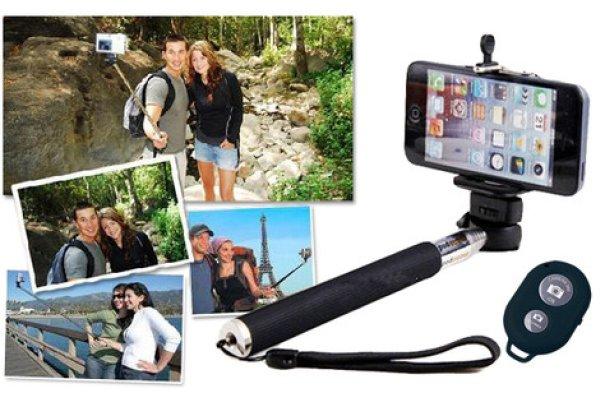 Monopod für<br> Digitalkameras und<br>Smartphones Selfie