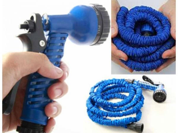 GARDEN HOSE with<br>SPRAY GUN - 7,5m
