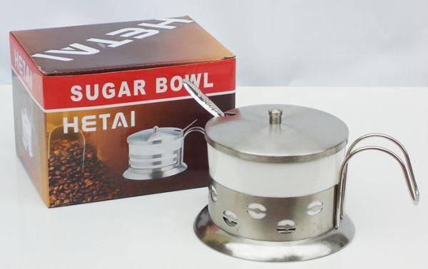 Zuckerdose mit<br>Deckel und Teelöffel