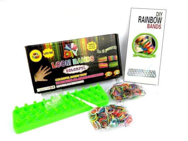 Erasers Rainbow<br> Loom Bands MEGA<br>600 erasers