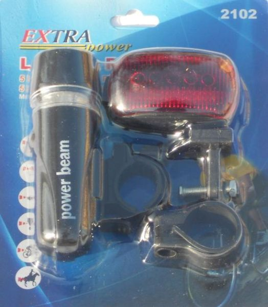 LED bicycle lamp set