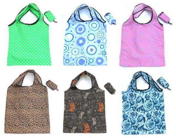 Colorful shopping<br>bag folding