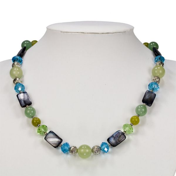 Jade Necklace /<br>Aventurine / Pearl