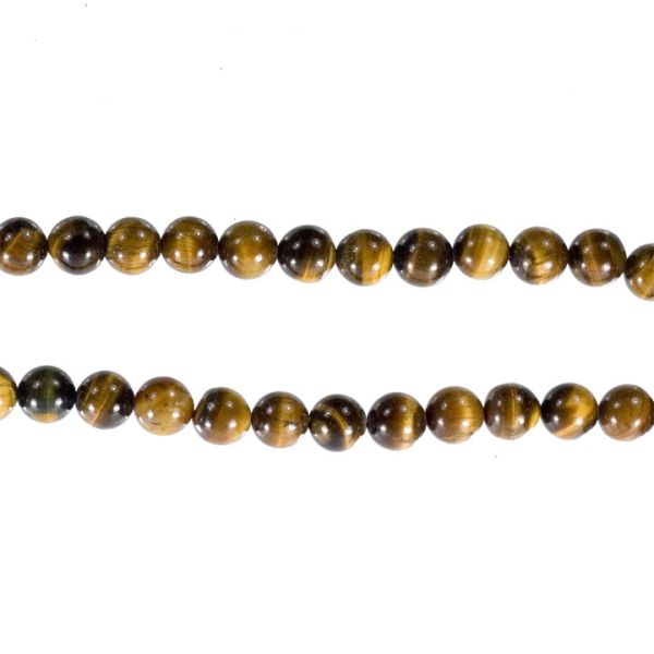 Strand tiger eye<br>beads, 12mm