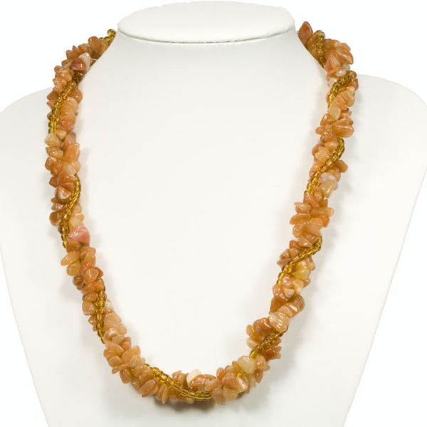 Red Aventurine<br> multi-strand chain<br>splitter