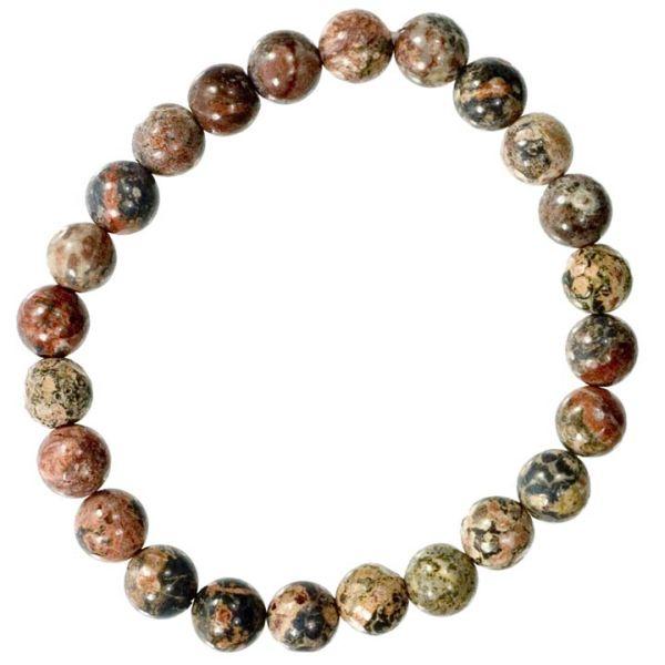 Natural pearl<br> bracelet<br>Leopardenfelljaspis, ...