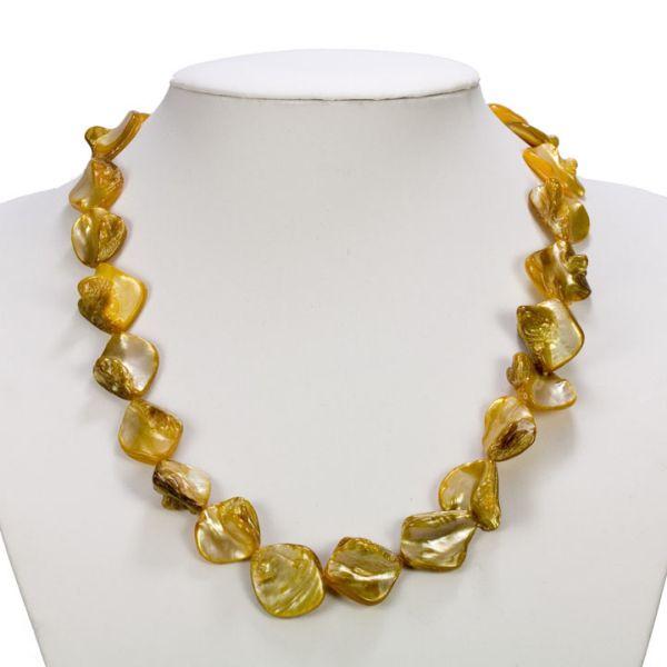 Pearl naszyjnik, złoty