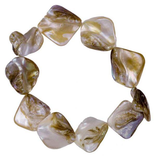 Bracelet mother of<br>pearl, cream-brown