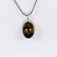 Natural stone drop<br>pendant, tiger eye