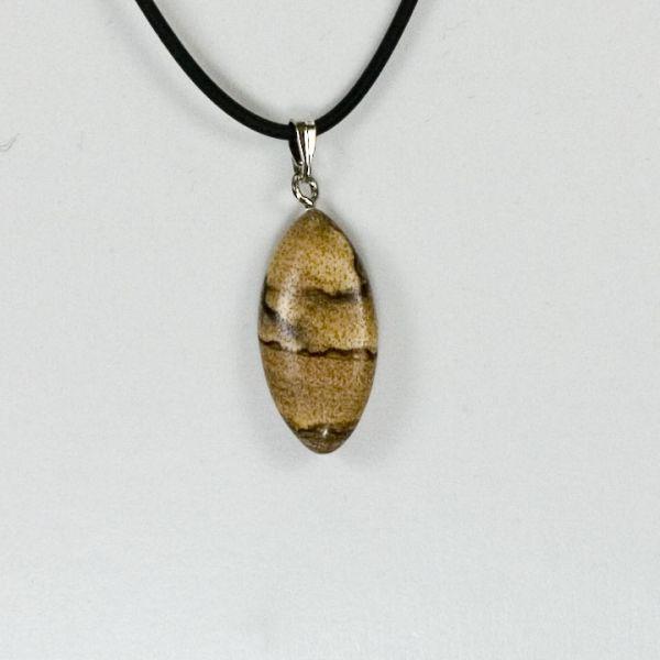 Pendente di pietra<br> naturale Horseeye,<br>Bilderjaspis