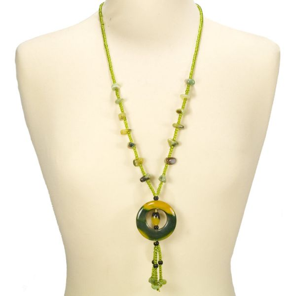Belt chain agate,<br>yellow green