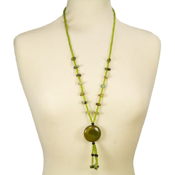Belt chain agate,<br>yellow green2