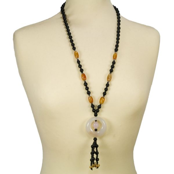 Band agate necklace