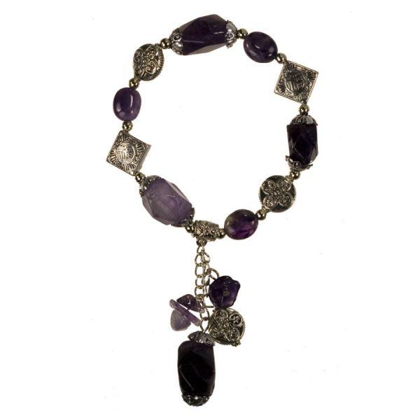 Natural stone<br>bracelet Amethyst